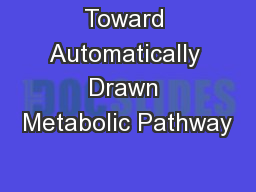 Toward Automatically Drawn Metabolic Pathway