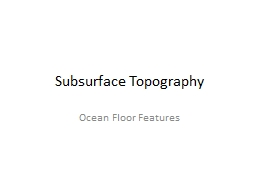 Subsurface Topography PowerPoint PPT Presentation