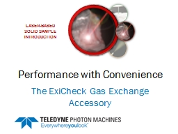 Performance with Convenience