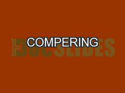 COMPERING