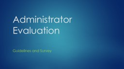Administrator Evaluation PowerPoint PPT Presentation