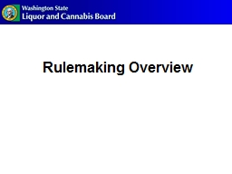 Rulemaking Overview