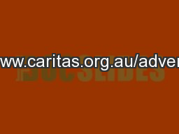 www.caritas.org.au/advent