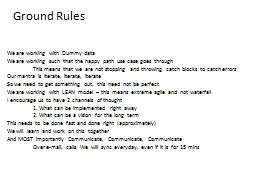 Ground Rules PowerPoint PPT Presentation