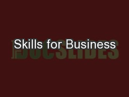 Skills for Business