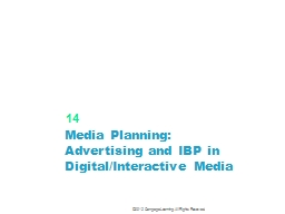 Media Planning: Advertising and IBP in Digital/Interactive