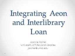 Integrating Aeon and Interlibrary Loan