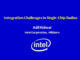 Integration Challenges in Single-Chip Radios PowerPoint PPT Presentation