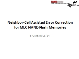 Neighbor-Cell Assisted Error Correction for MLC NAND Flash