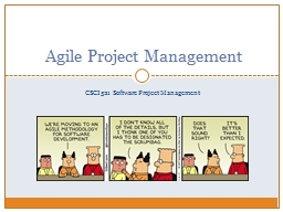 CSCI 521 Software Project Management