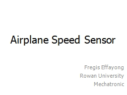 Airplane Speed Sensor
