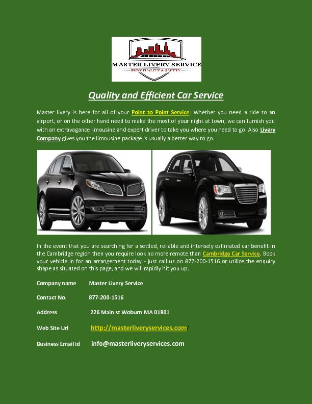 Quality and Efficient Car Service PowerPoint PPT Presentation