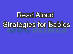 Read Aloud Strategies for Babies