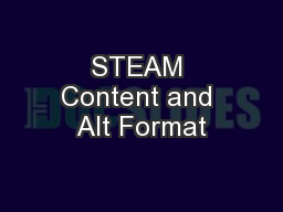 STEAM Content and Alt Format