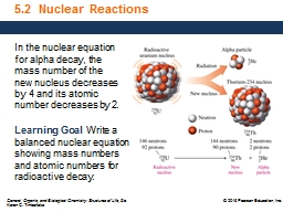 5.2  Nuclear Reactions PowerPoint PPT Presentation