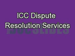 ICC Dispute Resolution Services