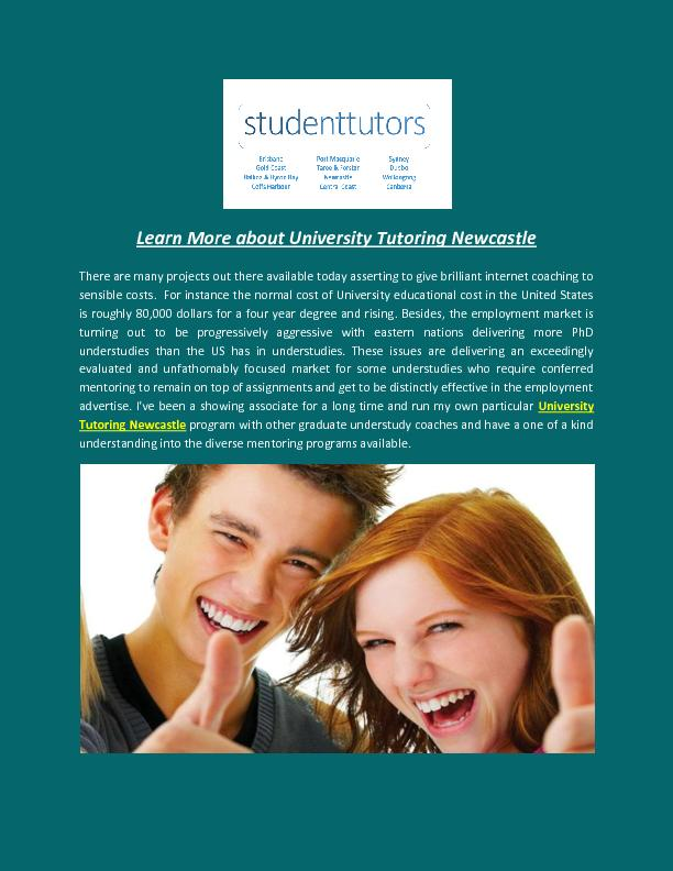 Learn More about University Tutoring Newcastle