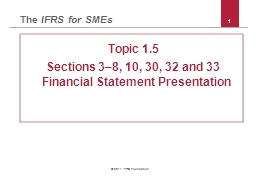 1 © 2011 IFRS Foundation