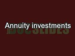 Annuity investments