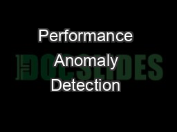 Performance Anomaly Detection & Forecasting Model (PADF