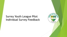 Surrey Youth League Pilot