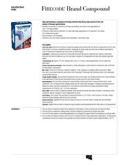 Highperformance economical firestop material effective