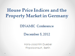 House Price Indices and PowerPoint PPT Presentation