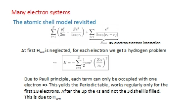Many electron systems PowerPoint PPT Presentation