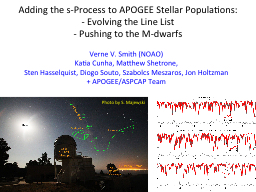 Adding the s-Process to APOGEE Stellar Populations: