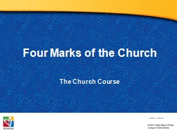 Four Marks of the Church