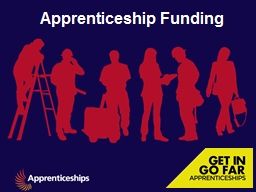 Apprenticeship Funding PowerPoint PPT Presentation