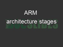 ARM architecture stages