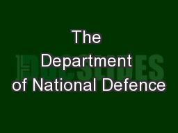 The Department of National Defence