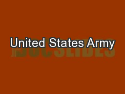 United States Army PowerPoint PPT Presentation
