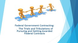 Federal Government Contracting: PowerPoint PPT Presentation