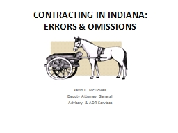 CONTRACTING IN INDIANA: PowerPoint PPT Presentation