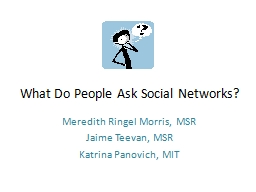 What Do People Ask Social Networks?