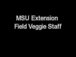 MSU Extension Field Veggie Staff