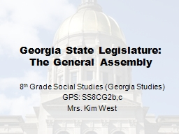 The General Assembly: PowerPoint PPT Presentation