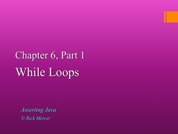 Chapter 6, Part 1
