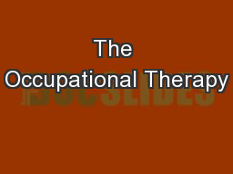 The Occupational Therapy