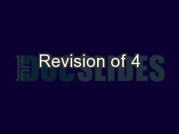 Revision of 4 PowerPoint PPT Presentation