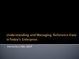 Understanding and Managing Reference Data in Today's Enterp