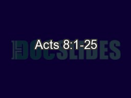 Acts 8:1-25