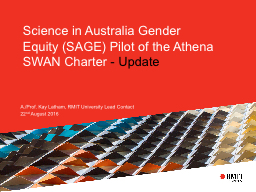 Science in Australia Gender Equity (SAGE) Pilot of the Athe
