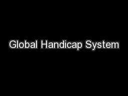 Global Handicap System
