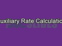 Auxiliary Rate Calculation