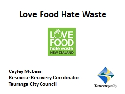 Love Food Hate Waste PowerPoint PPT Presentation