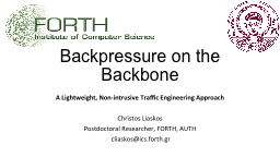 Backpressure on the Backbone