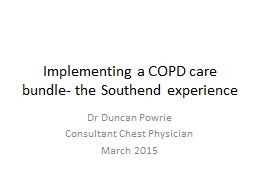 Implementing a COPD care bundle- the Southend experience
